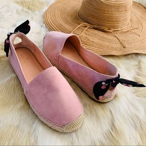 New KATE SPADE 8.5 Grayson espadrille flat shoes